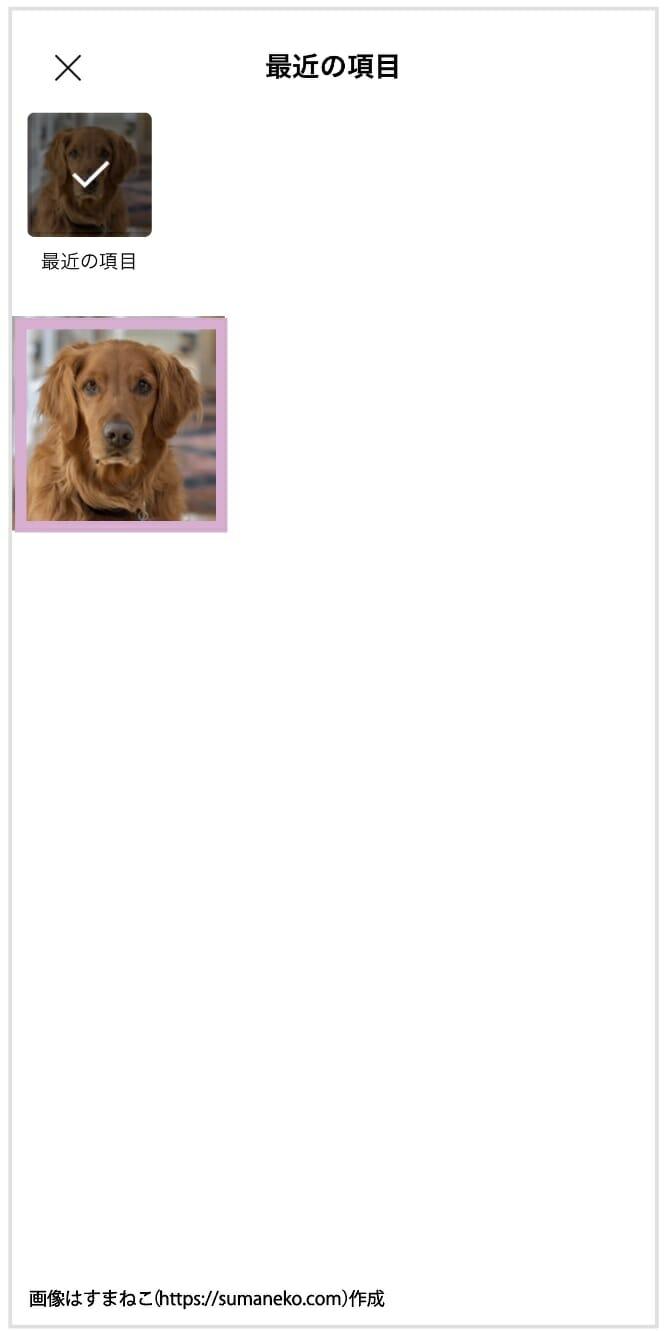 端末の写真を使用してアバターを作る方法の4